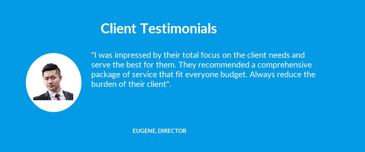 Company Secretary - 09 Client Testimonials - 05 Eugene, Director