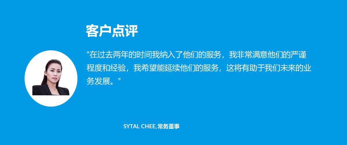 客户点评 - 01 Sytal Chee, 常务董事 - 1company