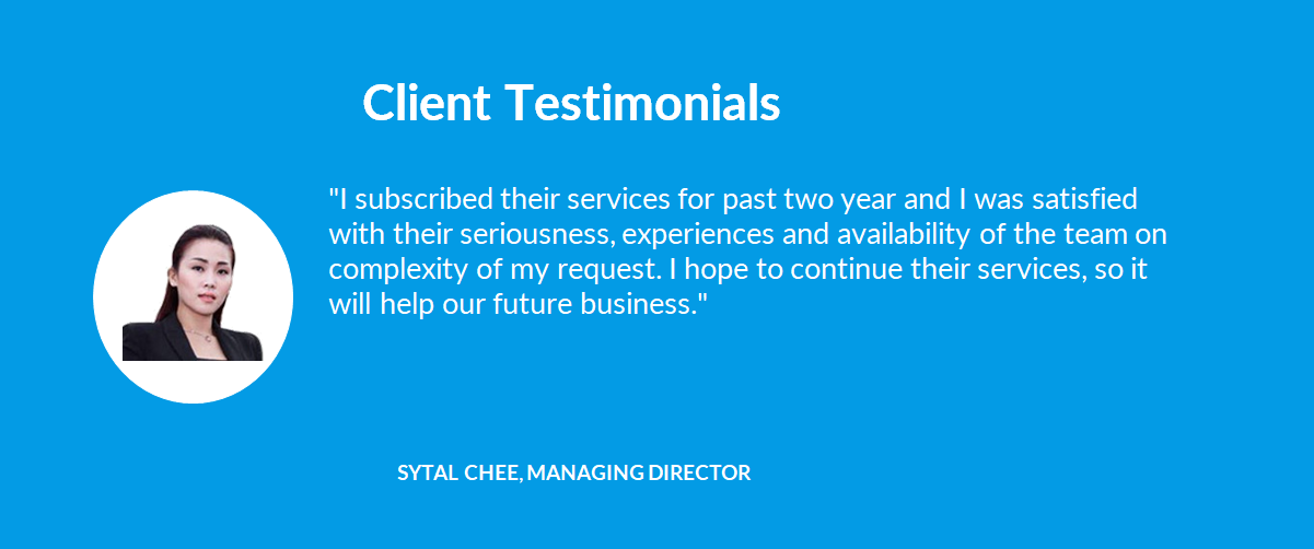 Client Testimonials - 01 Sytal Chee, Managing Director - 1company
