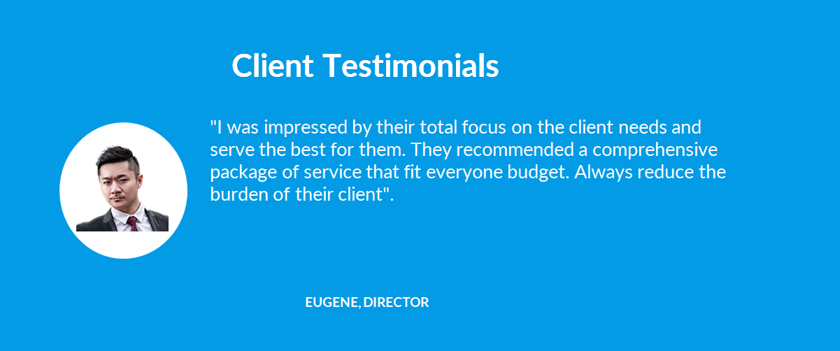 Client Testimonials - 05 Eugene, Director - 1company