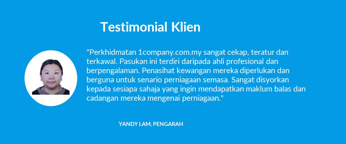 Testimonial Klien - 03 Yandy Lam, Pengarah - 1company