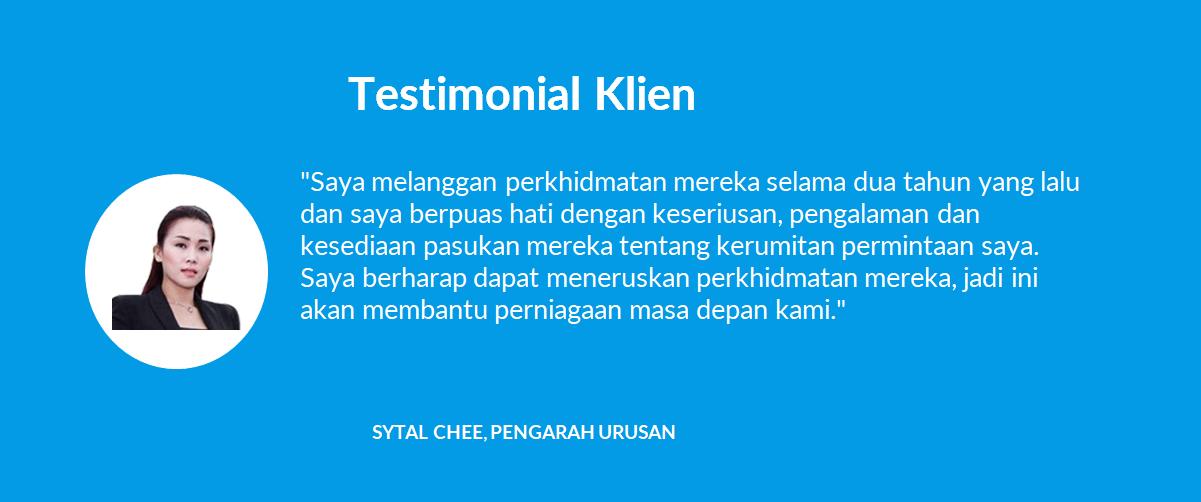 Testimonial Klien - 01 Sytal Chee, Pengarah Urusan - 1company