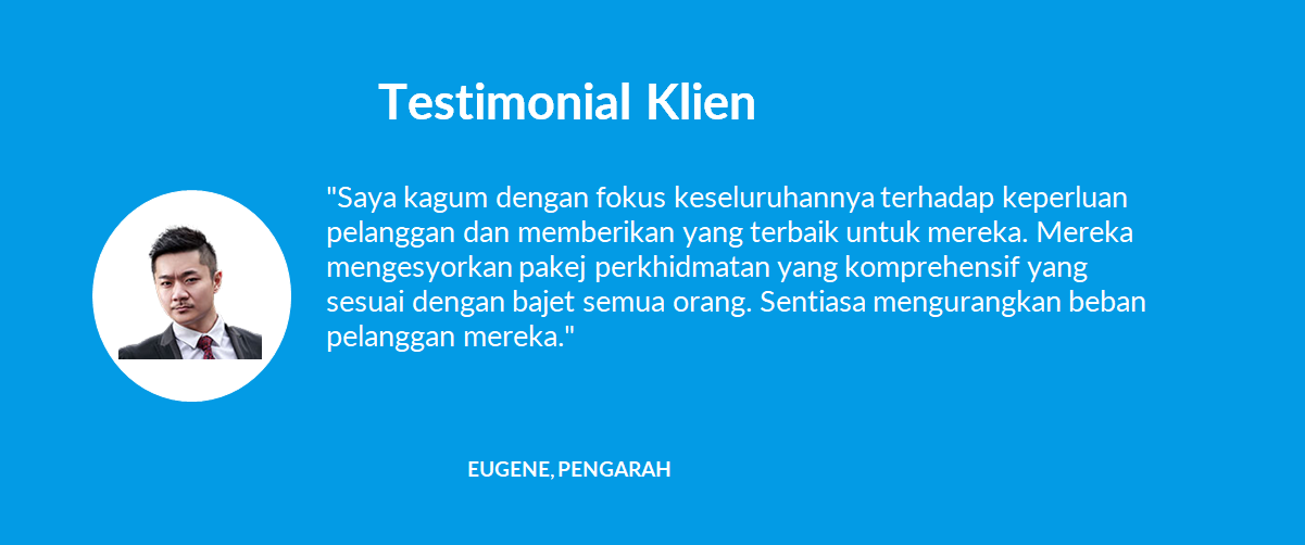 Testimonial Klien - 05 Eugene, Pengarah - 1company